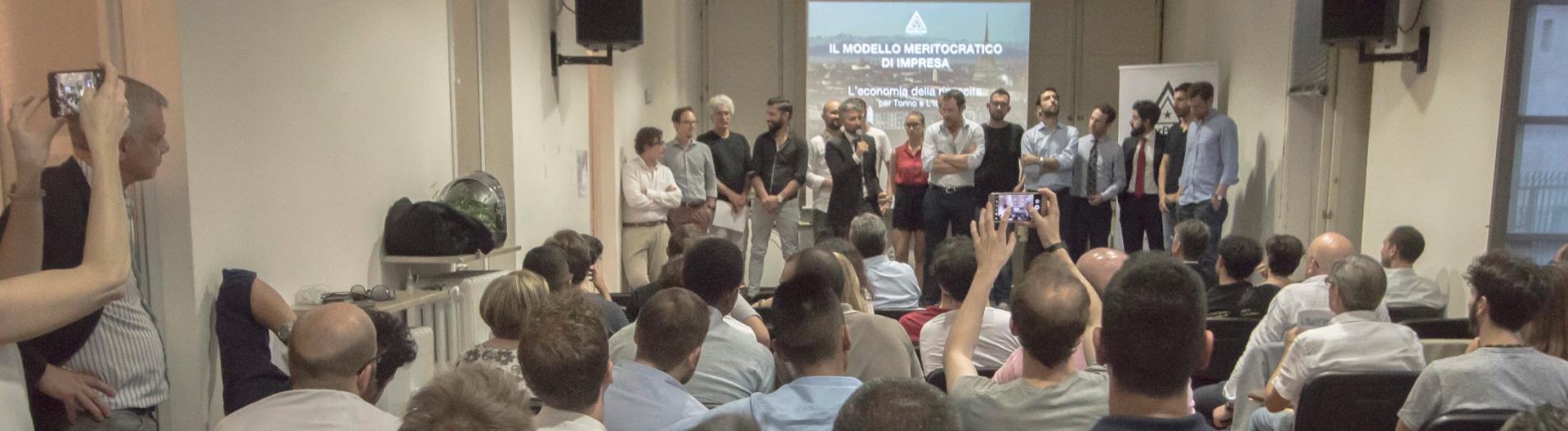 Daniele Alberti e Gianni Savio durante l'evento lancio del 5 Luglio 2017
